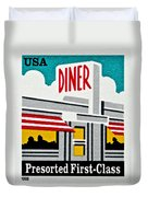 The American Diner  Duvet Cover
