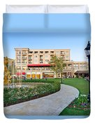 The Americana At Brand Outdoor Shopping Mall In California. Duvet Cover