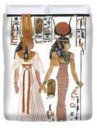 The Ancient Egyptian Goddess Isis Leading Queen Nefertari Duvet Cover