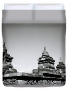 The Ancient Stupas Of Borobudur Duvet Cover