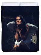 The Angel Prayed Duvet Cover by Laurie Search