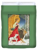The Angel The Lion And The Lamb Duvet Cover