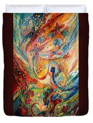 The Angels On Wedding Triptych - Center Duvet Cover