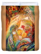 The Angels On Wedding Triptych - Left Side Duvet Cover