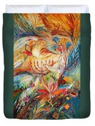 The Angels On Wedding Triptych - Right Side Duvet Cover