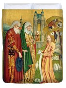 The Annunciation To Joachim And Anne, From The Dome Altar, 1499 Duvet Cover