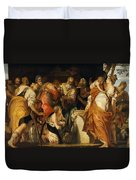 The Anointment Of David Duvet Cover