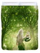 The Apple Fairy Duvet Cover