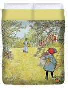 The Apple Harvest Duvet Cover by Carl Larsson