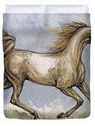 The Arabian Mare Running Duvet Cover