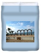 The Arches On The Playa Duvet Cover