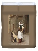 The Arnaut With Two Whippets Duvet Cover