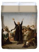 The Arrival Of The Pilgrim Fathers Duvet Cover