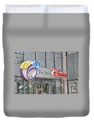 The Art Of Disney Signage Selective Coloring Digital Art Duvet Cover