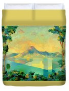 The Art Of Long Distance Breathing Duvet Cover by Andrew Hewkin
