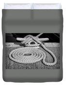 The Art Of Rope Lying Duvet Cover