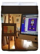 The Artist In His Studio Duvet Cover