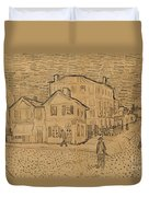 The Artists House In Arles Duvet Cover by Vincent Van Gogh