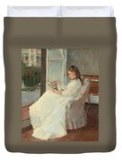 The Artist's Sister At A Window Duvet Cover