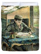 The Artists Son Duvet Cover by Camille Pissarro