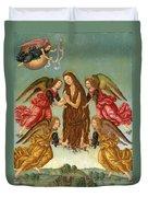 The Ascension Of Saint Mary Magdalene Duvet Cover