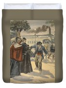 The Assassination Of The Empress Duvet Cover by French School