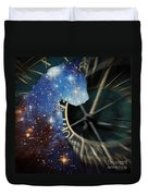 The Astronomer's Cat Duvet Cover