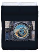The Astronomical Clock In Prague Duvet Cover