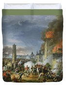 The Attack And Taking Of Ratisbon, 23rd April 1809, 1810 Oil On Canvas Duvet Cover