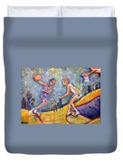 The B-ball Game Duvet Cover