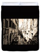 The Back Canals Of Venice Duvet Cover