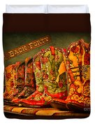The Back Forty Boots Are Made For Dancin' Duvet Cover