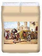 The Baker And The Straw Seller, 1840 Duvet Cover
