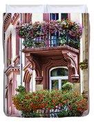 The Balcony Flowers Duvet Cover