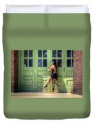 The Ballerina And The Green Doors Duvet Cover