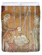 The Baptism Of St. Paul By Ananias, From Scenes From The Life Of St. Paul Mosaic Duvet Cover