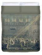 The Baptism Of The King Of Rome 1811-32 At Notre-dame, 10th June 1811, After 1811 Engraving Duvet Cover