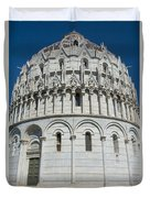 The Baptistery In Pisa  Duvet Cover