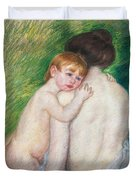 The Bare Back Duvet Cover by Mary Cassatt Stevenson