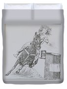 The Barrel Racer Duvet Cover