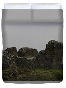 The Battered Remains Of The Urquhart Castle In Scotland Duvet Cover