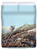 The Battle Of Alma On 20th September Duvet Cover by Edmund Walker