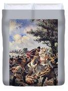 The Battle Of Bouvines, 1214 Duvet Cover