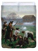 The Battle Of Lexington, 19th April 1775 Duvet Cover