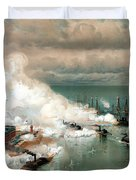 The Battle Of Mobile Bay Duvet Cover