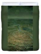 The Battle Of Senta, 11th September, 1697 At Which The Imperial Troops Of The Austrian Empire Duvet Cover