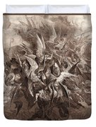 The Battle Of The Angels Duvet Cover