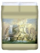 The Battle Of Trafalgar Duvet Cover
