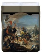 The Battle Of Vercellae Duvet Cover