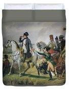 The Battle Of Wagram, 6th July 1809, 1836 Oil On Canvas Duvet Cover